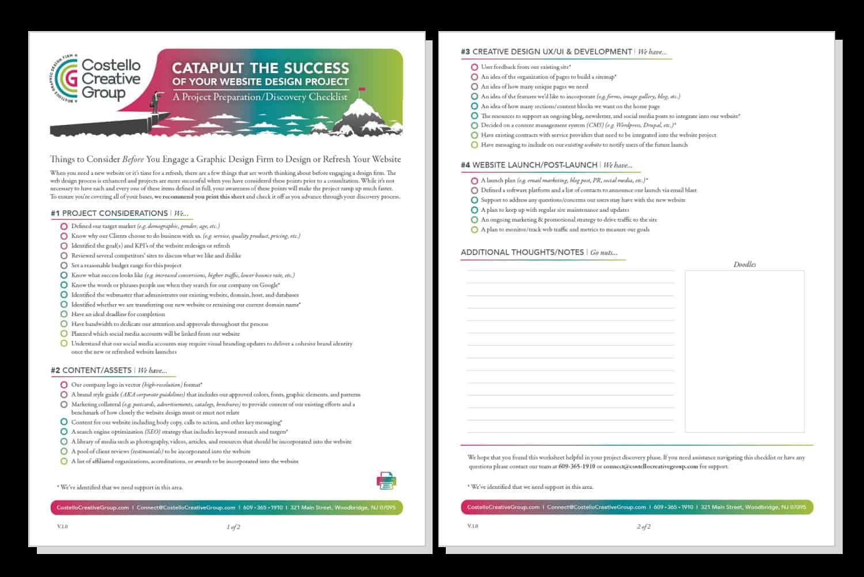 Website Checklist Screenshot