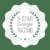 Google 5 Star Rating Seal