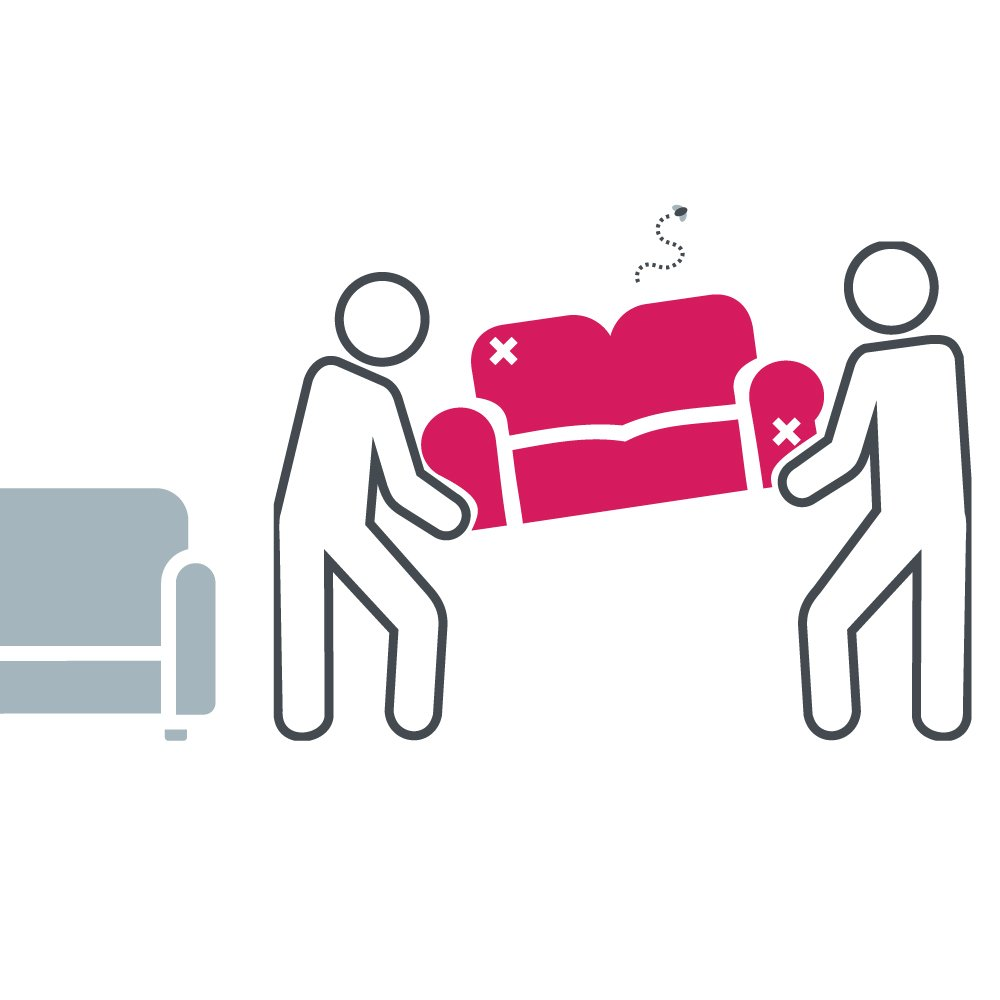 2 people moving a couch